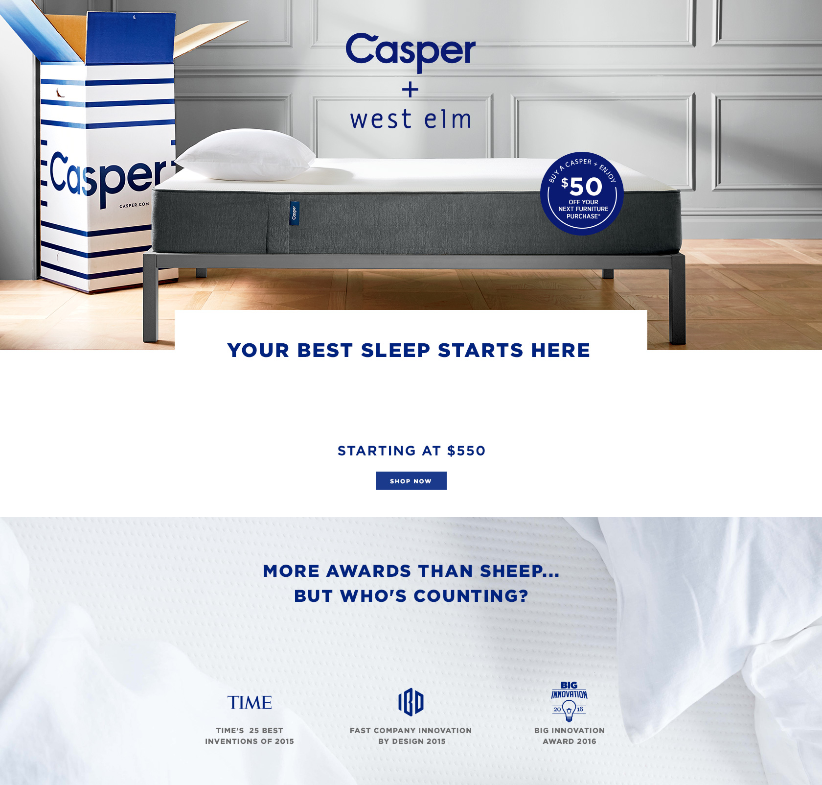 Casper + West Elm - The Dream Team - Starting At $500