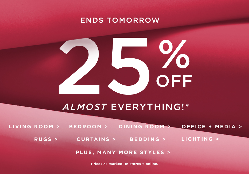 The Come-Get-It Sale: 25% Off Almost Everything!