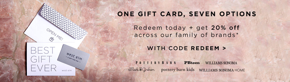 Redeem Today + Get 20% Off Across Our Family Of Brands with code REDEEM