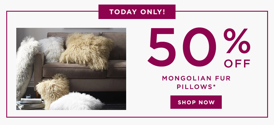 Today Only! 50% Off Mongolian Fur Pillows