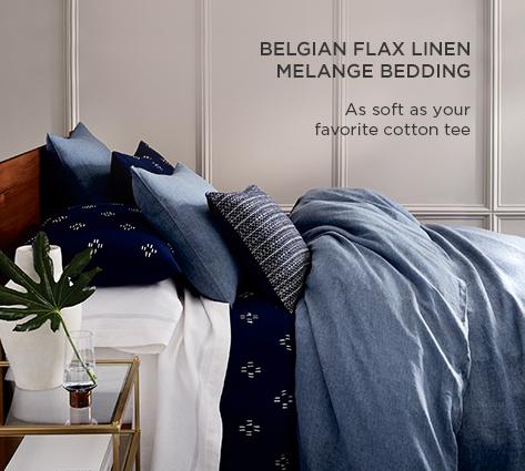 Belgian Flax Linen Melange Bedding - As Soft As Your Favorite Tee