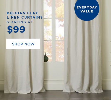 Belgian Flax Linen Curtains Starting at $99