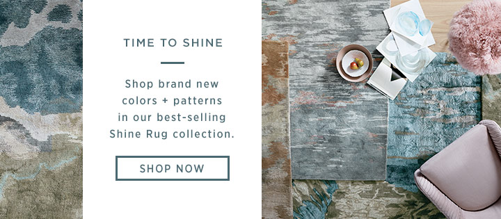 Shop brand new colors + patterns in our best-selling Shine Rug collection