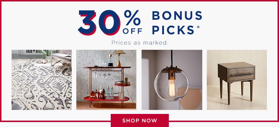 30% Off Bonus Picks
