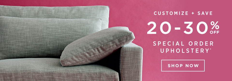20-30% Off Special Order Upholstery