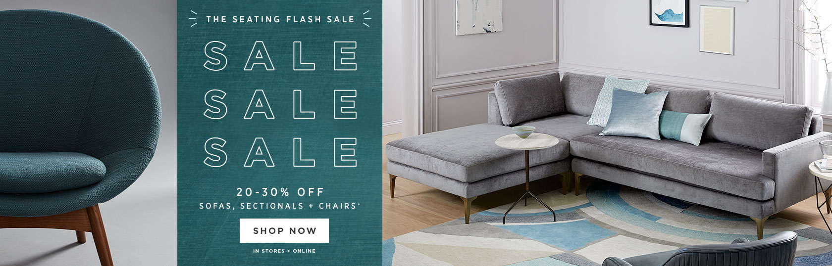 20-30% Off Sofas, Sectionals + Chairs
