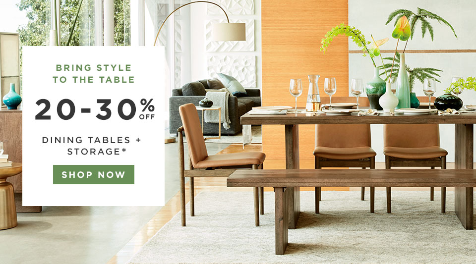 20-30% Off Dining Tables + Storage