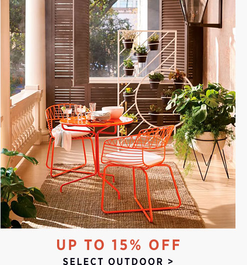 Up To 15% Off Select Outdoor