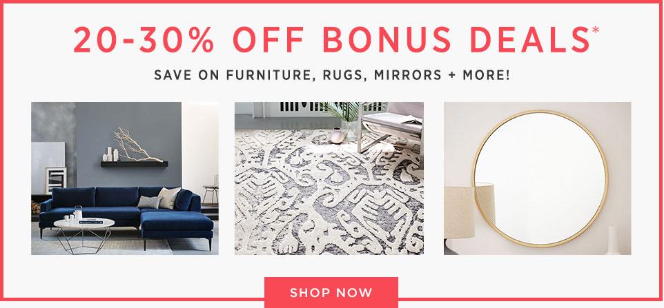 20-30% Off Bonus Deals!