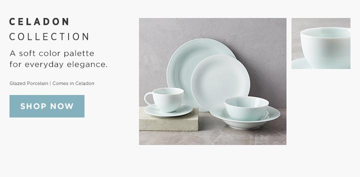 Celadon Collection - A soft color palette for everyday elegance