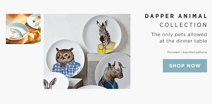 Dapper Animal Collection - The only pets allowed at the dinner table