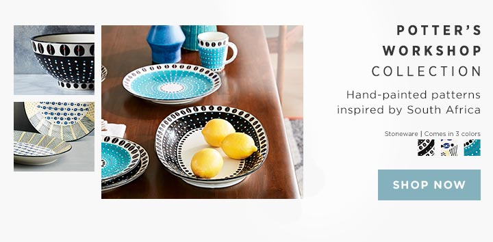 Potter's Workshop Collection - Hand-painted patterns inspired by South Africa