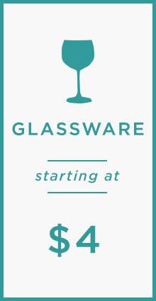 Glassware Starting At $4