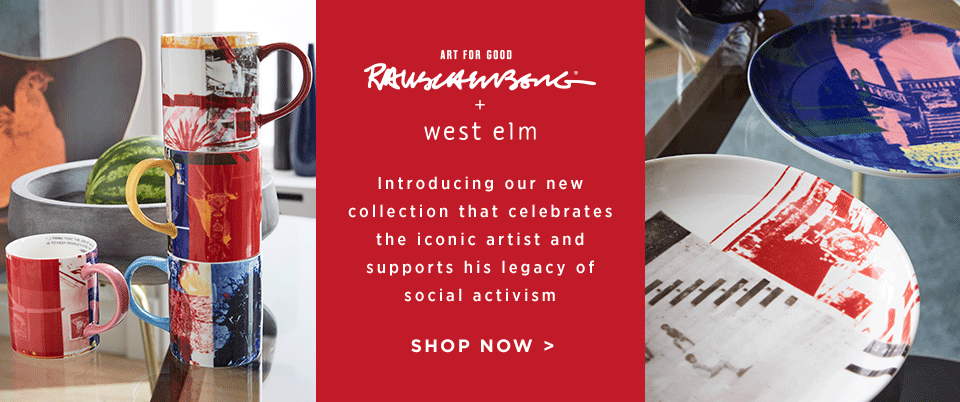 Art For Good: Rauschenberg + west elm