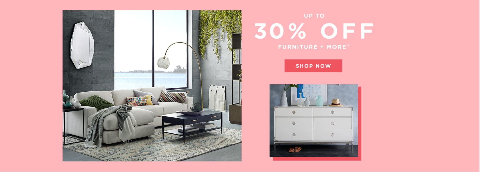 Up To 30% Off Furniture + More