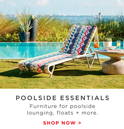 Poolside Essentials - Furniture For Lounging, Floats + More.