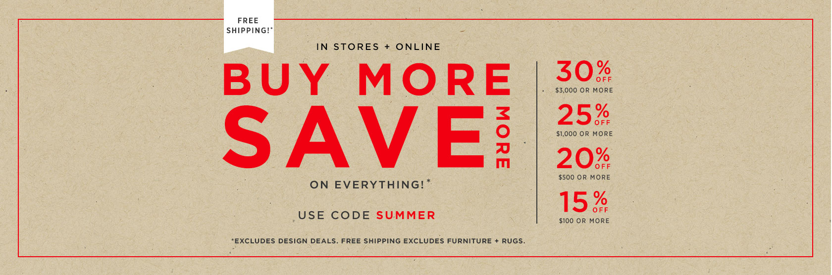 Buy More Save More! Up To 30% Off + Free Shipping. Use Code SUMMER